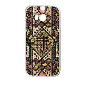 Malcolm Classic Flowerr Fabric Totem Pattern Custom Protective Hard Phone Cae For HTC One M8