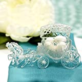 48 PC FILLABLE CINDERELLA CLEAR SLIPPERS WEDDING FAVORS QUINCEANERA PARTY FAVORS