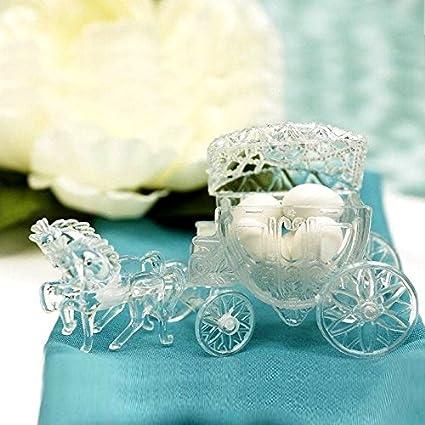 Amazon Balsacircle 12 Pcs Clear Cinderella Coach Wedding Favor