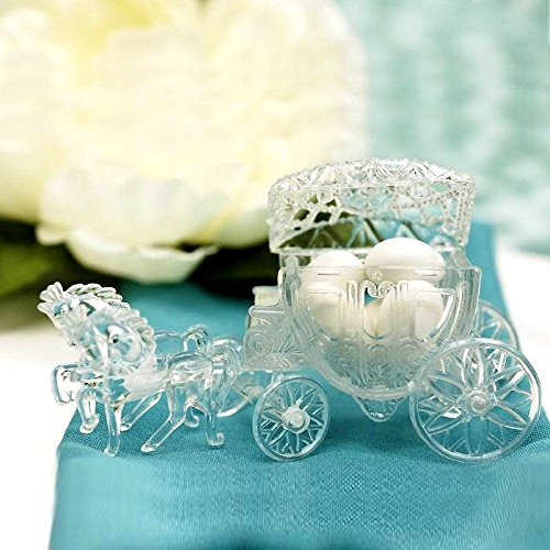 inderella Coach Wedding Favor Holders - Clear (The Wedding Coach)