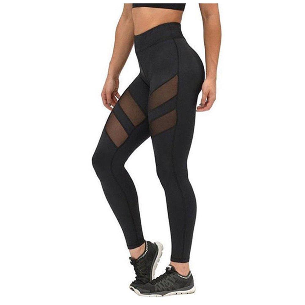 Homebaby Leggings Sportivi Donna Push Up - Patchwork Mesh Eleganti Leggings Sport Opaco Yoga Fitness Spandex Palestra Pantaloni Leggins - Pantaloni Tuta Donna- Abbigliamento Fitness Donna