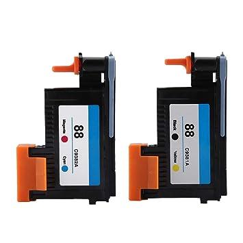 Eboxer Cabezal de Impresión para HP 88 C9382A K5300 K8600 Serie ...