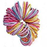 LAAT 100PCS Colorful Hair Ribbon Headwear Elastic Head Wraps Headbands Bulk Ponytail Holders Hair Rope High Elasticity Hair Rope (Random Colors)