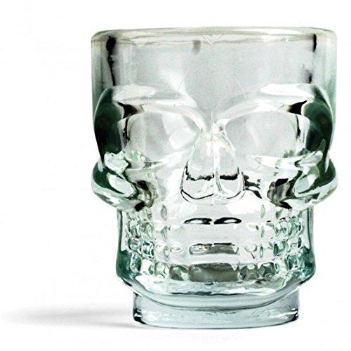 Totenkopf Schnapsgläser - Skull Likörgläser Skelett Schnapsbecher Betrunken Shooter im 4er Set