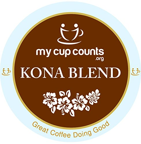 My Cup Counts K Cup Coffee, Kona Blend, 48 Count