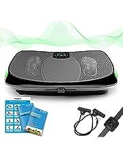 4D Vibrationsplatte – Leistungsstark mit 3 leisen Motoren   Leicht zu Bedienen   Magnetfeldtherapie Massage   Ultra Komfort – Curved Design   4.0 Bluetooth Lautsprecher   Vibration Oszillation