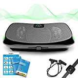 Bluefin Fitness 4D Triple Motor Vibration Plate | Powerful | Magnetic Therapy Massage | Curved Surface | 4.0 Bluetooth...