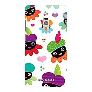 HomeSoGood Smiling Bees Pattern White 3D Mobile Case For OnePlus 2 (Back Cover)