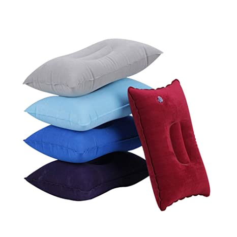 5 Pcs Rectangle Inflatable Pillow Ultralight Travel Camping Pillows Inflatable Air Pillow Compact Portable Compressible Blow Up Sleeping Pillow Travel Accessories S