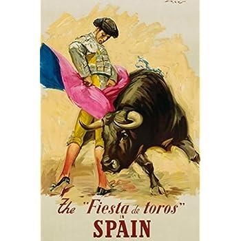 Spain The Fiesta de Toros Travel Cool Wall Decor Art Print Poster 24x36