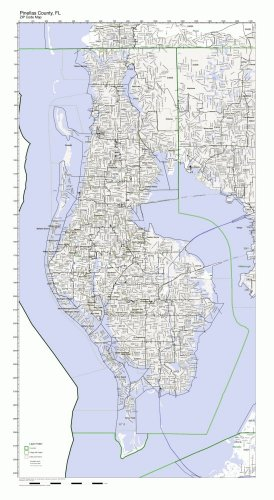 Pinellas County, Florida FL ZIP Code Map Not -