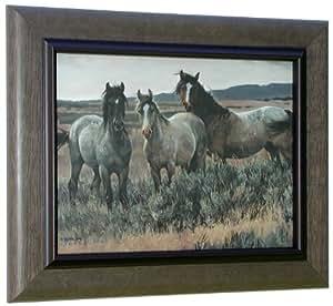Nancy Glazier AMAZING GRAYS 2 Framed Art Print Horse Horses
