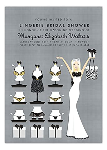 Blonde Lucky in Love and Lingerie Invitation - Lingerie Party Invitation