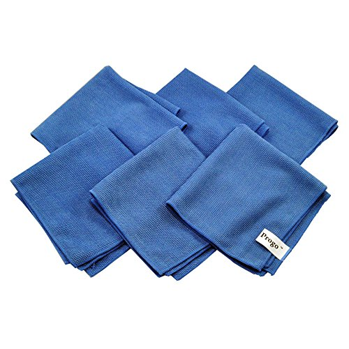 Tablet Laptop Lcd - Progo Ultra Absorbent Microfiber Cleaning Cloths for LCD/LED TV, Laptop Computer Screen, iPhone, iPad and more. (6 Pack)