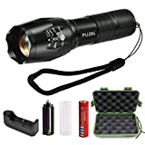 LED Flashlight Torch Adjustable Focus Zoomable Mini Generic , Super Bright - Sturdy and Durable Aluminium Structures - Water Resistant Lighting Lamp Torch For Hiking, Camping