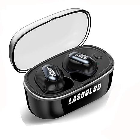 Auriculares Bluetooth 5.0, TWS Mini Auriculares Inalámbricos In-Ear Manos Libres con Caja de
