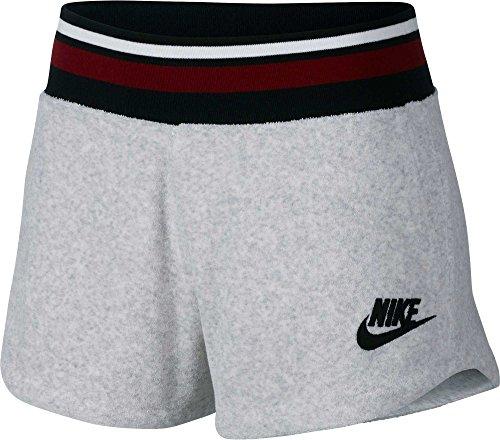 Nike Womens Archive French Terry Training Shorts (Birch Heather, Medium)
