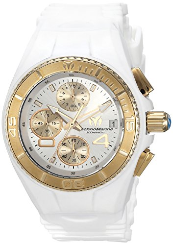 (Technomarine Women's Cruise Stainless Steel Quartz Watch with Silicone Strap, White, 24 (Model:)