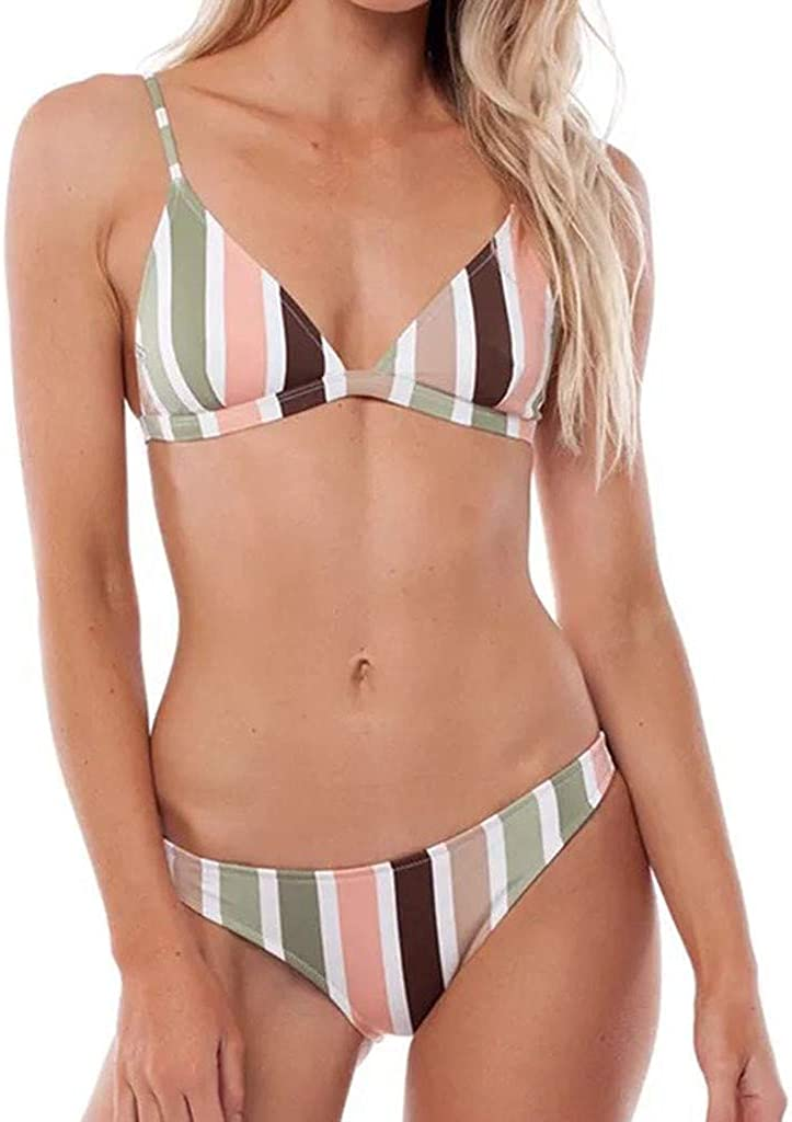 Mujer Trajes de Baño Realde a Rayas de impresión Traje de Baño Traje de Baño Bikini Sexy Push Up Acolchado Traje de Baño Control de la Barriga Bikini Bañadores Swimwear Ropa De