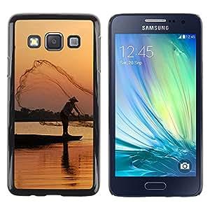 Be Good Phone Accessory // Dura Cáscara cubierta Protectora Caso Carcasa Funda de Protección para Samsung Galaxy A3 SM-A300 // Nature Beautiful Forrest Green 100