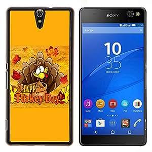 Jordan Colourful Shop - Turkey Day Thanksgiving Autumn Fall For Sony Xperia C5 Ultra Personalizado negro cubierta de la caja de pl????stico