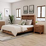 Furniture of America FOA Nangetti 2pc Antique Oak Wood Bedroom Set - Queen + Nightstand