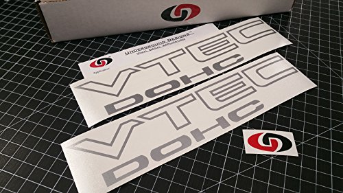 VTEC DOHC Vinyl Decal Sticker Import Tuner METALLIC SILVER by Underground (Honda Import Tuner)
