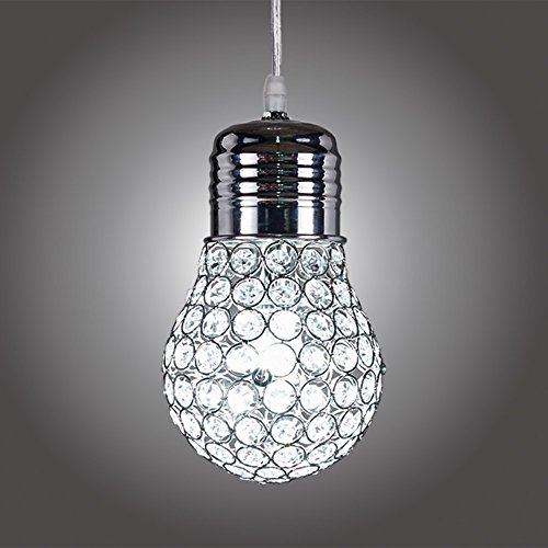 MonaLisa Gallery Chrome Crystal Chandeliers Ceilling Pendant Light Fixture SML-332-S W4.5xH10