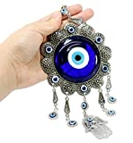 Turkish Blue Evil Eye (Nazar) Flower Hamsa Hand