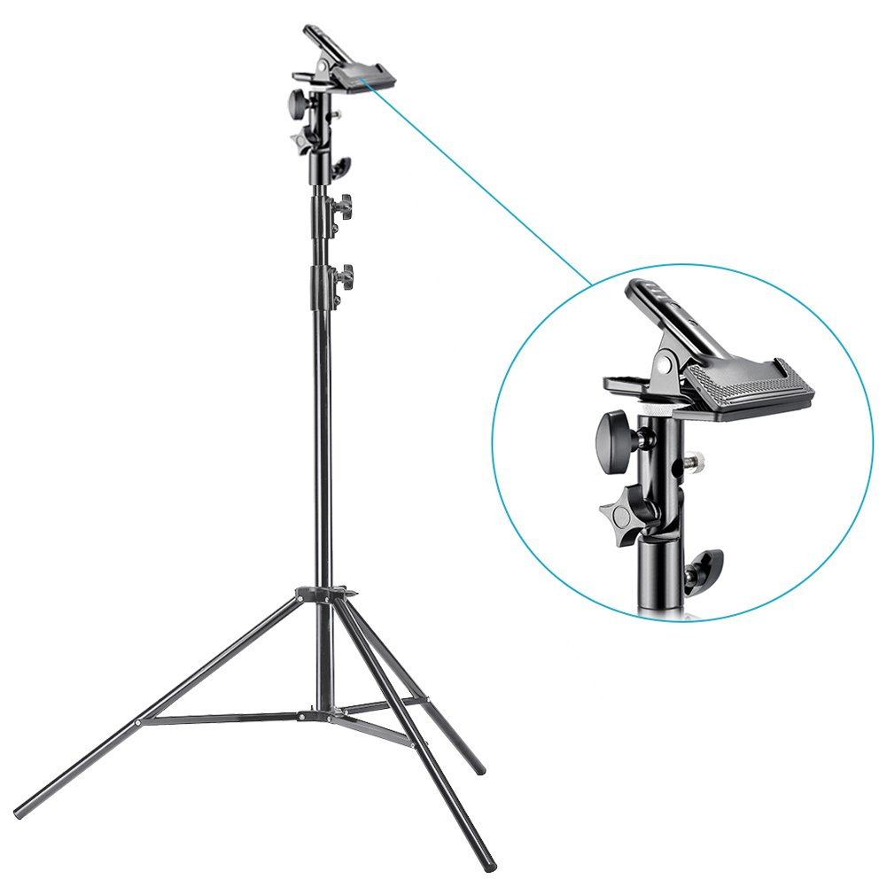Neewer Photo Studio Pro 9 feet/260 centimetres Aluminum Alloy Light Stand and Heavy Duty Metal Clamp Holder for Reflectors for Photo Video Portrait Photography by Neewer (Image #3)