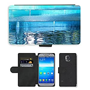 PU LEATHER case coque housse smartphone Flip bag Cover protection // M00151525 Reflexión de reflejo Wave // Samsung Galaxy S5 S V SV i9600 (Not Fits S5 ACTIVE)