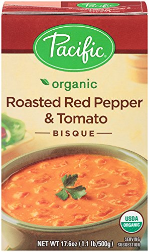 Pacific Foods Organic Roasted Red Pepper And Tomato Bisque, 17.6-Ounce (Organic Roasted Peppers)