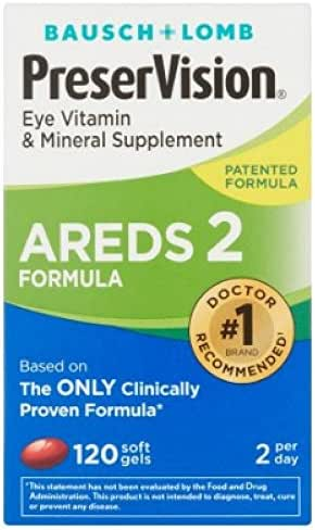 PreserVision AREDS 2 Vitamin & Mineral Supplement, Soft Gels 120 ea (Pack of 12)