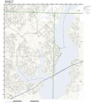 Amazon Com Zip Code Wall Map Of Rowlett Tx Zip Code Map
