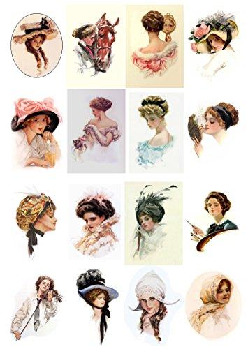 decoupage-paper-pack-10sheets-a4-8x12-victorian-ladies-flonz-vintage-paper