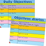 Daily Objectives Dual Language Poster Set - English and Spanish