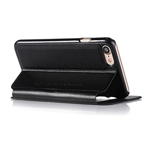 SULADA Answer Calls Two View Windows Leather Tasche Hüllen Schutzhülle - Case für iPhone 6s 6 4.7 inch - schwarz