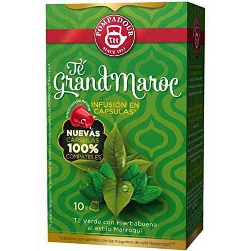 (POMPADOUR for the ORIGINAL Nespresso system Capsules - Grand Morocco TEA - 10 caps / sleeve - 80 caps COUNT)