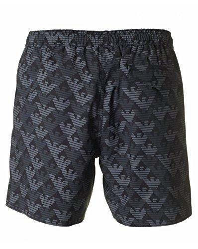 Ea7 Swimwear Seaworld All Over Eagle Logo Swim Shorts XL BLACK
