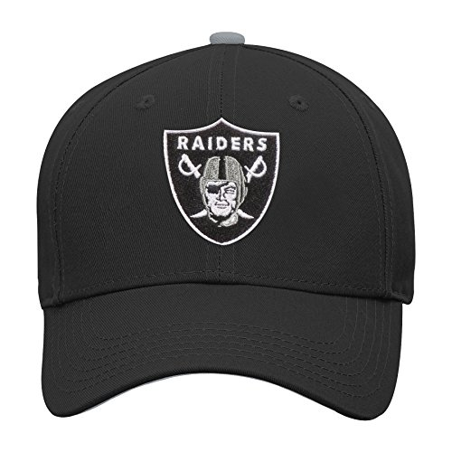 Outerstuff NFL NFL Oakland Raiders Youth Boys Basic Structured Adjustable Hat Black, Youth One Size