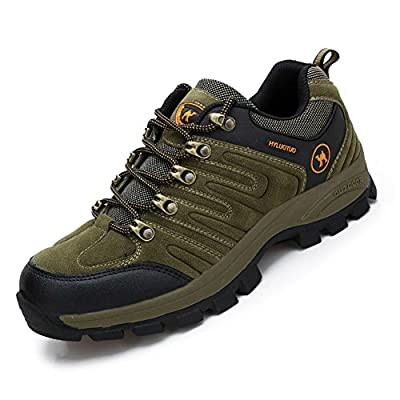 Men's walking sneakers travel casual waterproof lightweight running outdoor athletic hiking brown shoes