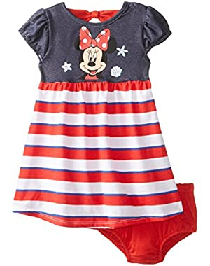 Baby-Girls Minnie Mouse Short Sleeve Dress with Panty Set