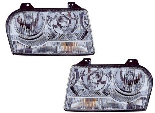 Headlight 300 Assembly Chrysler - Chrysler 300 (2.7L/3.5L) Replacement Headlight Assembly (Halogen) - 1-Pair