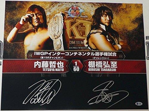 Hiroshi Tanahashi & Tetsuya Naito Signed 16x20 Photo COA New Japan Pro Wrestling - Autographed Wrestling Photos