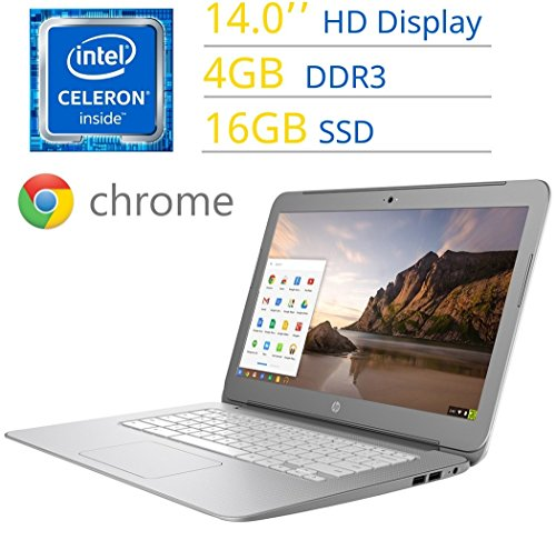 HP Chromebook 14 Intel Celeron 4GB 16GB 14.0'' Google Chromebook Laptop PC (Black)