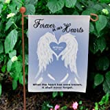 "GiftsForYouNow Personalized Forever in Our Hearts Double Sided Lawn Flag, 12 1/2"" w x 18"" h, Polyester Review"