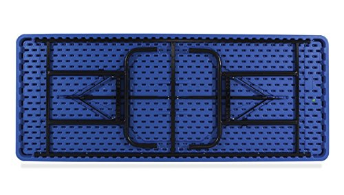 NPS 30 x 72 Height Adjustable Heavy Duty Folding Table, Blue ()