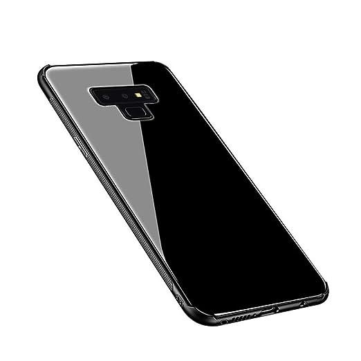 sale retailer 46988 469d7 Amazon.com: Galaxy Note 9 Case,Tempered Glass Back Cover Soft Bumper ...