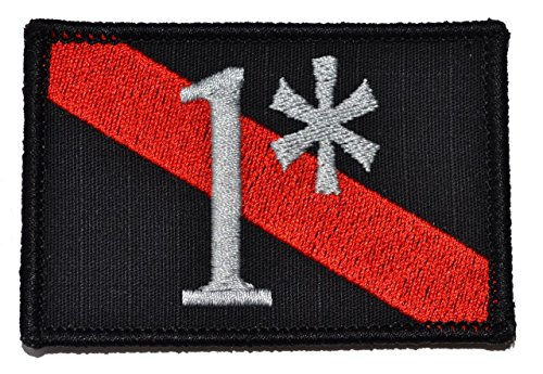 Firefighter One Ass to Risk 1 Thin Red Line 2x3 Morale Patch - Black -