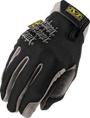 Mechanix Wear H15-05-010 Utility Full Finger Synthetic Leather and Spandex Mechanics Gloves with Hook and Loop Cuff, Large, Black